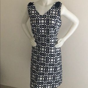 Blue and White flower print dress
